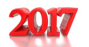 2016-2017 stellt Änderung das neue Jahr 2017 dar Lizenzfreie Stockfotografie