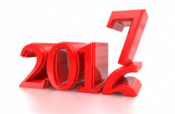 2016-2017 stellt Änderung das neue Jahr 2017 dar Lizenzfreies Stockbild