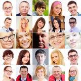 Stellt Collage gegenüber Lizenzfreies Stockfoto