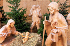 Stellt Geburt Christis-Baby Jesus dar Lizenzfreie Stockfotos