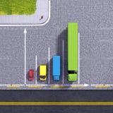 Stellt logistischer Transportservice des Geschäfts Illustration grafisch dar Lizenzfreie Stockfotos