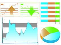 Stellt Statistik grafisch dar Lizenzfreie Stockbilder