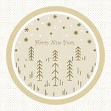 Stellt Weihnachtsbäume dar stock abbildung
