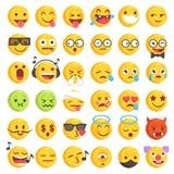 Stellte raue Hand gezeichnetes großes Emoji 2 ein Stockfoto