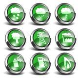 stellten grüne Ikonen 3d 03 ein Lizenzfreies Stockbild
