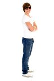 Stellung des jungen Mannes stockfoto