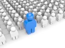 Stellung heraus von der Masse. Unterschiedliches Konzept Stockfotos