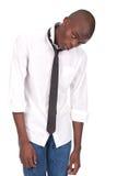 Stellung und Gefühl des schwarzen Mannes miserabel Stockfoto