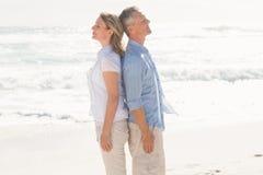 Stellungsabschluß des glücklichen Paars zusammen Lizenzfreies Stockfoto