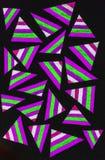 Stelna pennteckningen med färgrika trianglar Arkivfoto