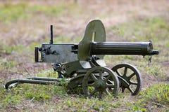 Stelregelmachinegeweer van van de tweede wereldoorlog op het gras Stock Foto