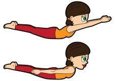 Stelt de vastgestelde sprinkhaan van yogaasana royalty-vrije illustratie