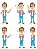 Stelt een schepper-stijl mannelijke reeks van 6 types van 1 royalty-vrije illustratie