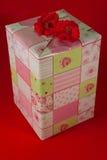 Stelt verpakt in roze giftdocument - 6 voor Stock Afbeelding
