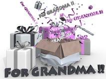 Stelt voor grandpma voor Stock Fotografie