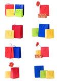 Stelt voor of het winkelen zakkeninzameling Stock Fotografie
