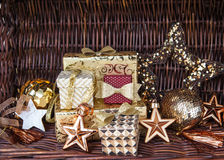 Stelt voor Kerstmis voor Stock Afbeelding