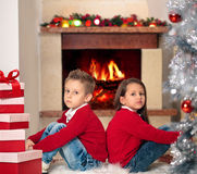 Stelt voor Kerstmis voor Royalty-vrije Stock Afbeeldingen