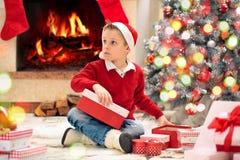 Stelt voor Kerstmis voor stock foto