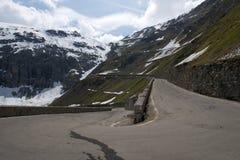 Stelvio通行证,山口在北意大利, elevati的 免版税库存照片