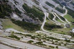 Stelvio通行证,山口在北意大利, elevati的 库存照片