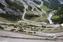 Stelvio通行证,山口在北意大利, elevati的 图库摄影