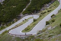 Stelvio通行证,山口在北意大利, elevati的 免版税图库摄影