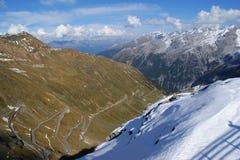 Stelvio Durchlauf, Italien stockbild