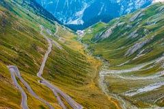 Stelvio Mountain Pass in Italy Royalty Free Stock Photo