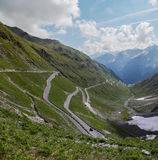 Stelvio pass in the Alps Royalty Free Stock Image
