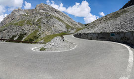 Stelvio pass in the Alps Stock Images