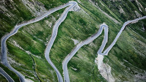 Stelvio Pass - Asphalt Road Royalty Free Stock Images