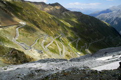 Stelvio pass, Bolzano - Italy stock images