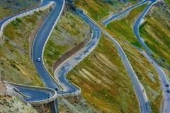 The Stelvio Pass. Extreme Road. Northern Italy. Elevation of 2,757 m (9,045 ft) Passo dello Stelvio Stock Photography