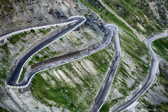 Stelvio Pass - Hairpins Royalty Free Stock Image