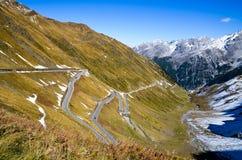 Stelvio Pass i hösten (Italien) Royaltyfri Fotografi