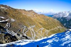 Stelvio Pass im Herbst (Italien) lizenzfreies stockbild