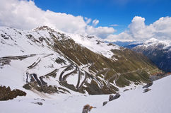 Stelvio Pass im Winter, Süd-Tirol Stockbild