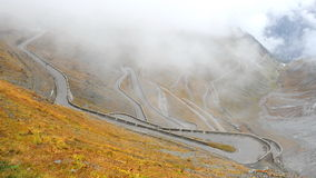 Stelvio pass in Italy Stock Images