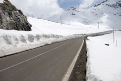 The Stelvio Pass, mountain pass in northern Italy, at an elevati Royalty Free Stock Images