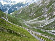 Stelvio Pass. One of the dangerous roads in the world Royalty Free Stock Photos