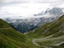 Stelvio Pass. One of the dangerous roads in the world Royalty Free Stock Images