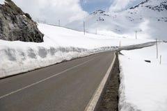 Stelvio Pass, passo di montagna in Italia del Nord, ad un elevati Immagini Stock Libere da Diritti