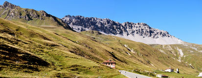 Stelvio pass, piz umbrail. Stelvio pass, northern lombardy, swiss border Stock Image