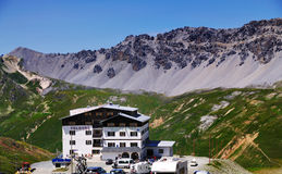 Hotel on the Stelvio Pass, Italy Stock Image