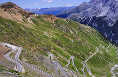 Stelvio Pass and Ortler, Italy Royalty Free Stock Image