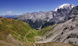 Stelvio Pass and Ortler, Italy Royalty Free Stock Photography