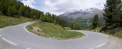 Stelvio przepustka, przełęcz w północnym Włochy przy elevati, Obraz Stock