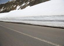 Stelvio przepustka, przełęcz w północnym Włochy przy elevati, Obraz Royalty Free