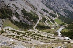 Stelvio przepustka, przełęcz w północnym Włochy przy elevati, Fotografia Stock
